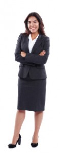 Ansering Service Woman in Business Suit